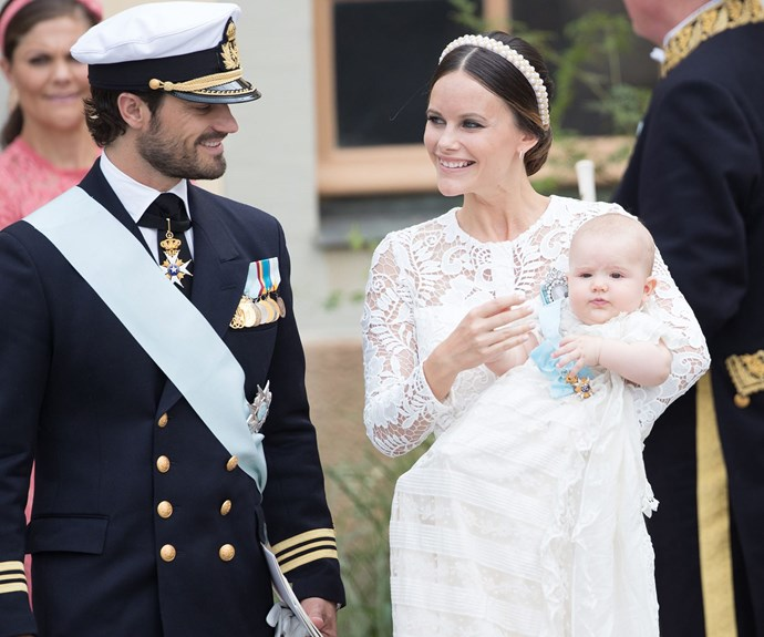 Prince Carl Philip and Princess Sofia's first son, Prince Alexander, was born on Tuesday, April 19 at 6:25pm. **SEE his stunning baptism in the next slide!**
