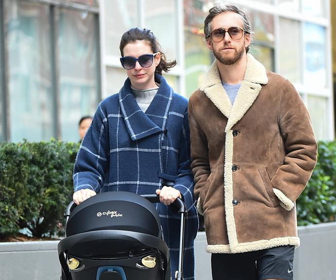 Anne Hathaway and Adam Shulman brought their first child, a boy, into the world together in LA on March 24. They named him Jonathan Rosebanks Shulman.