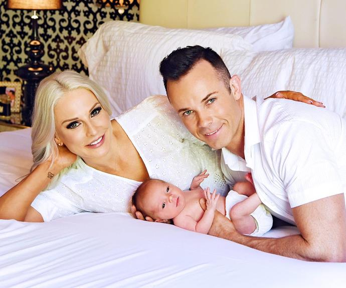 """Andrew Tierney of Aussie boy-band Human Nature officially introduced he and wife Heather's darling daughter in this week's issue of *Woman's Day.* """"I burst into tears when I saw her, it was a surreal moment for me,"""" he said of his baby girl named Violette Faith. """"From the moment I laid eyes on her I knew straight away how much joy she'll bring us."""""""