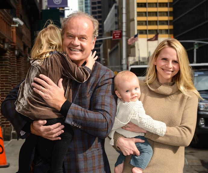 Last month, 61-year-old actor Kelsey Grammer and his wife Kayte were blessed by their third child together, Auden James Ellis Grammer, who is actually baby number seven for the actor! **WATCH: Kelsey talks about fatherhood in the next slide!**