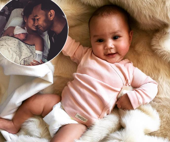On April 14, Chrissy Teigen and singer John Legend became the proud parents of their first daughter, Luna Simone Stephens.