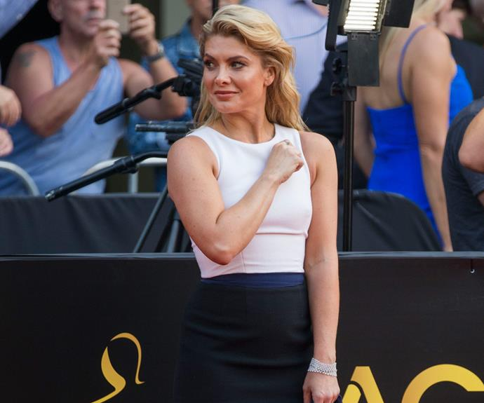 Natalie Bassingthwaighte oozes confidence in this figure-hugging number.