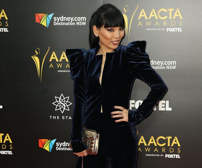 Dami Im channelled a Gothic-inspired look.