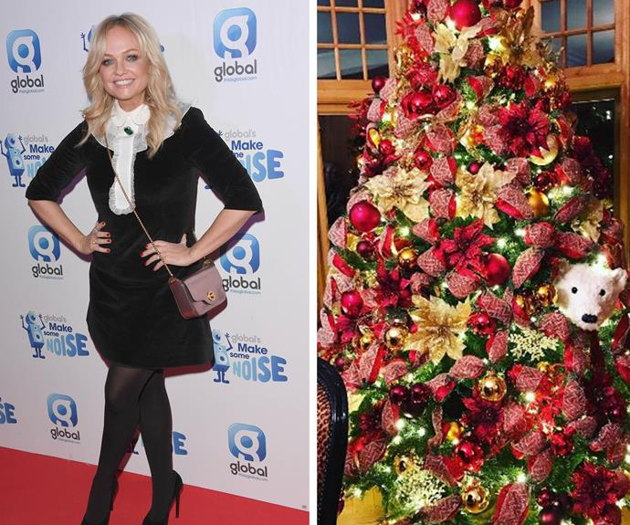 Stop right now… and admire Emma Bunton's heavily embellished Christmas tree!