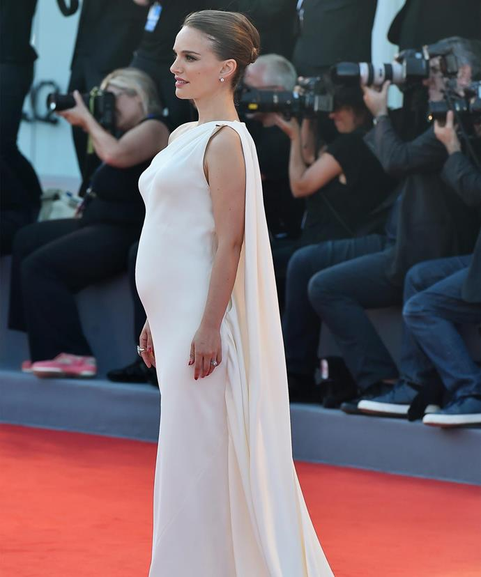The actress debuted her baby bump on the red carpet of the 2016 Venice Film Festival back in September.