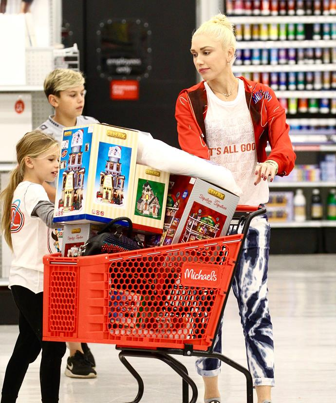 Gwen Stefani might need a second trolley! The *Rich Girl* singer better have a big tree for all of those toys to fit under...