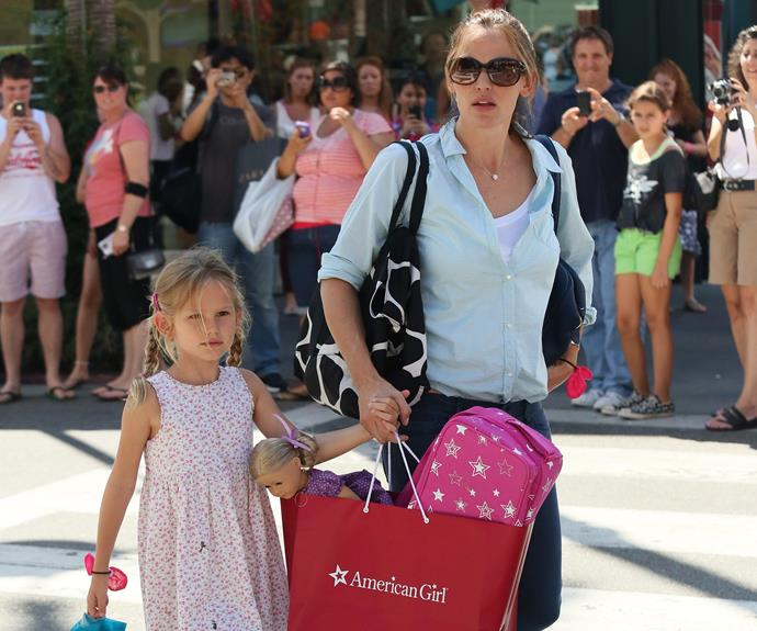 Jennifer Garner's daughter Violet clearly doesn't like surprises! The actress and her ex-husband Ben Affleck's eldest will have to feign shock and delight upon receiving this pretty, purple doll.