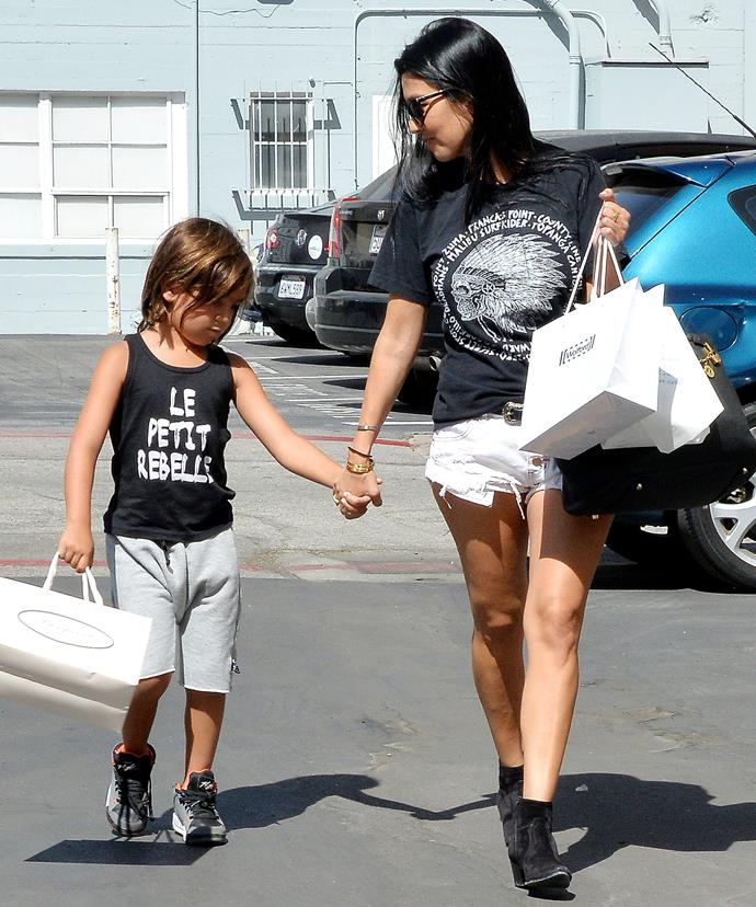 Kourtney Kardashian and six-year-old Mason enjoy some quality mother-son time together in preparation for the big day.