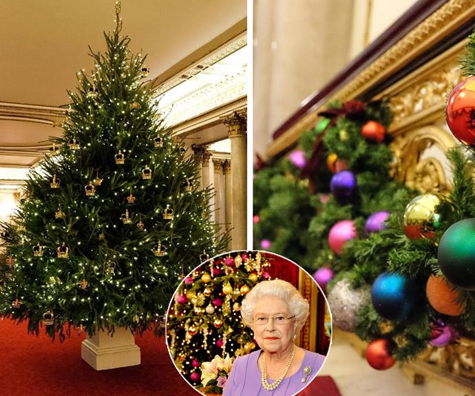 """""""It's beginning to look a lot like Christmas at Buckingham Palace,"""" shared the royal abode alongside four stunning snaps of the glittering trees that decorate the halls."""