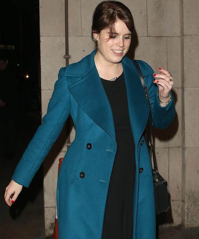 Princess Eugenie Pictured Ring On Engagement Finger