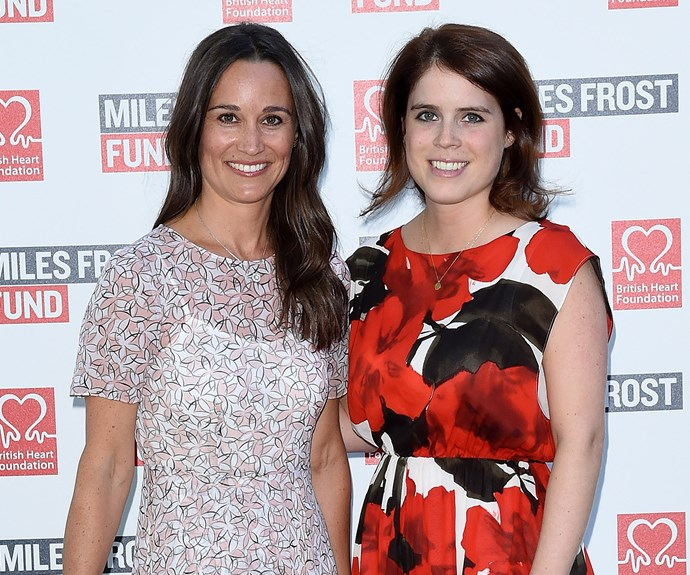 Brushing shoulders with royalty! Pippa, pictured here with Princess Eugenie, just one day after James, 41, is said to have popped the BIG question.