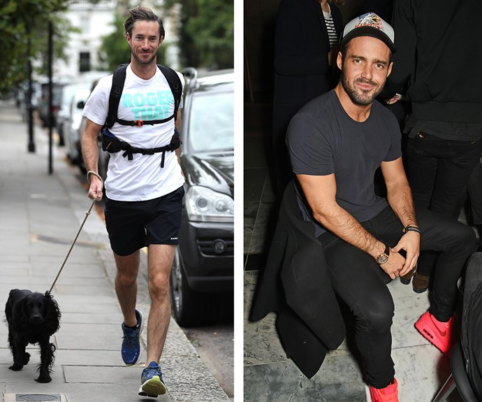 James (L) is the older brother of *Made In Chelsea* star, Spencer Matthews (R). Spenny is believed to be James' best man come May.