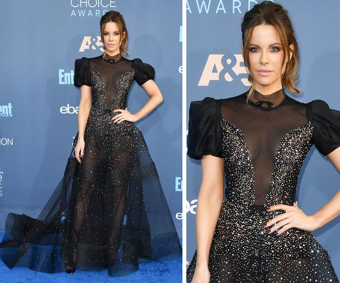 Kate Beckinsale was as pretty as a princess in this fairytale-inspired gown.