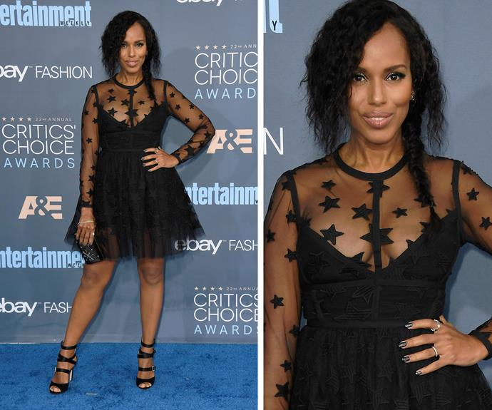 Kerry Washington, who recently welcomed her second bub, oozed elegance in this LBD.