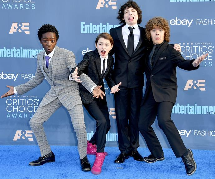 The charming stars of *Stranger Things* know how to work a red carpet.
