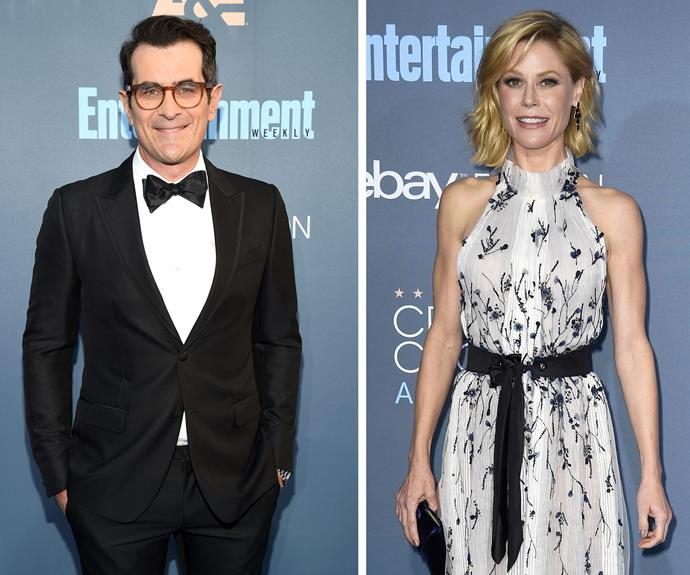 *Modern Family* favourites Ty Burrell and Julie Bowen put their best foot forward.