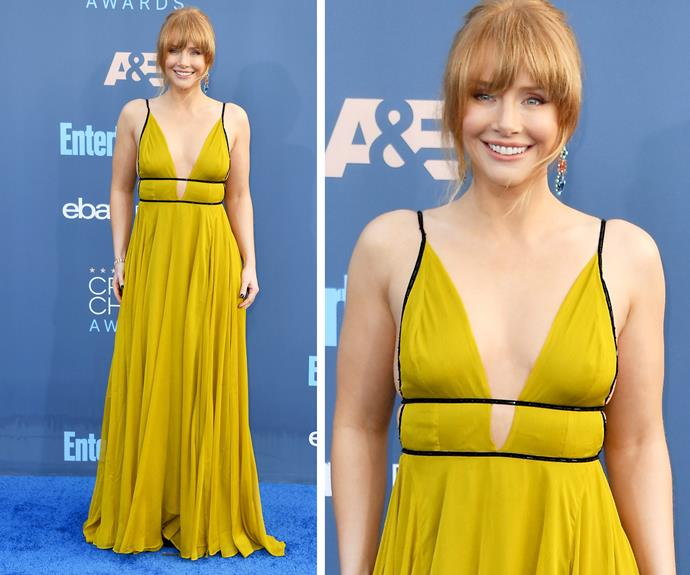 Bryce Dallas Howard packed a punch in this sunshine-yellow dress.