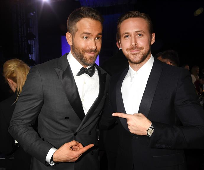 Ryan inception! Ryan Reynolds has a firm friend in Ryan Gosling.