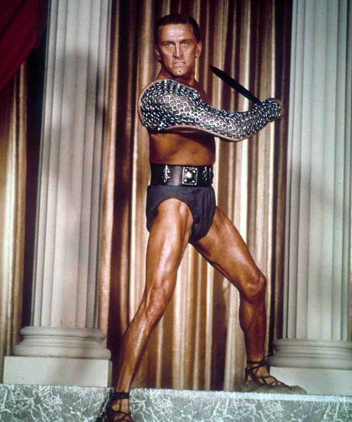 Kirk in *Spartacus*.