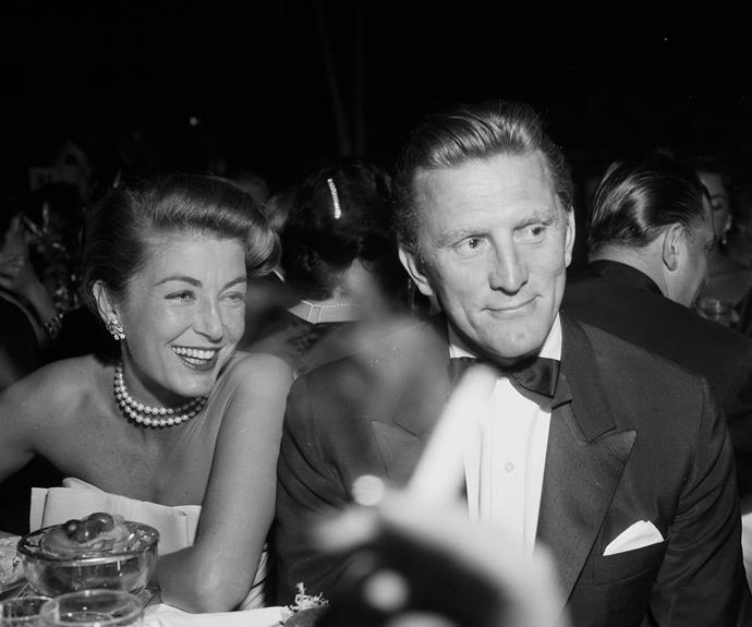 The Hollywood royalty pictured with wife Anne in 1957.