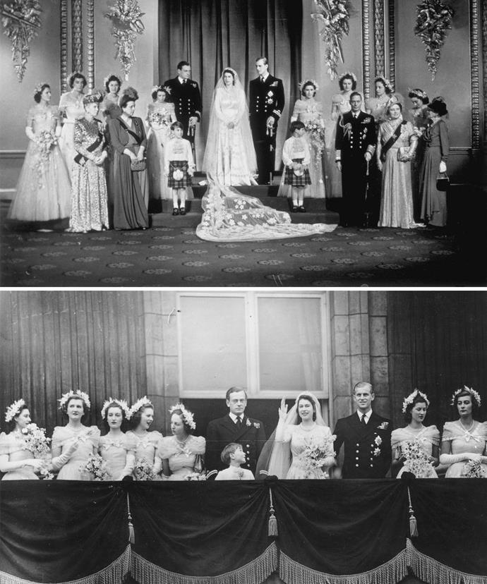 Lady Elizabeth Longman was one of the two non-family members among the eight bridesmaids.