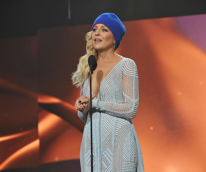 **The speech that started a national fundraising campaign** <br><br> Carrie Bickmore won the Gold Logie in 2015, her fourth nomination for the award. *The Project* host gave an emotional speech where she brought attention to brain cancer, to which she lost her husband Greg in 2010. She donned a beanie and implored those watching to wear one the next day in support those suffering from brain cancer.