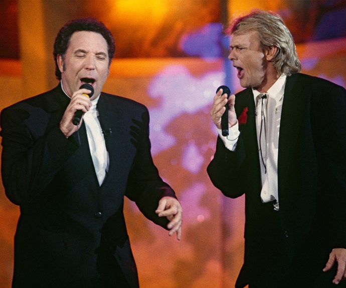 Farnsey and Jonesy performed a cover of ACDC's 'Long Way To The Top' at the 1993 Logie Awards. It was an iconic performance which saw of one Australia's most popular musicians match pitch with one of Britain's most popular!