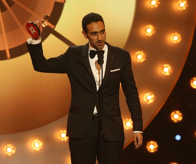 In 2016, *The Project* host Waleed won the Gold Logie and followed his win with a moving speech about racism within the TV industry and how it lacks diversity. Waleed detailed how a colleague approached him to tell Waleed that he had changed his name from 'Mustafa' in order to land work in the industry.