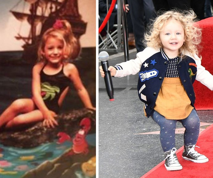Twinning! Blake (L) and her oldest daughter share the same stunning features and curly hair.