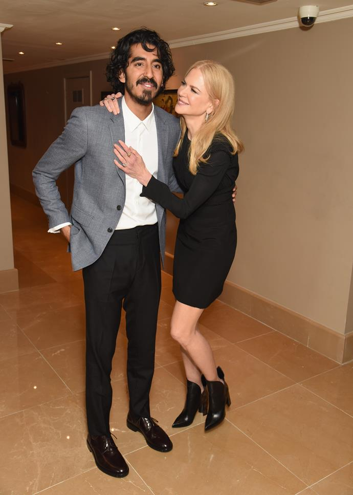 Nicole Kidman and Dev Patel looked like the best of pals at a VIP screening for their new movie *Lion*, in which she plays his mother.