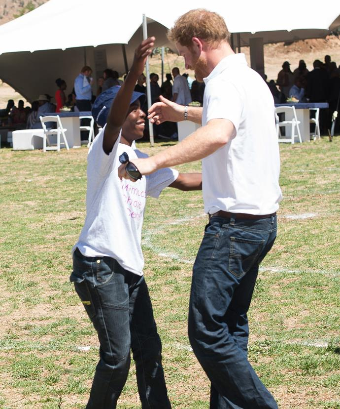 Harry shares an unbreakable bond with African orphan Mutsu, who he first met 12 years ago.