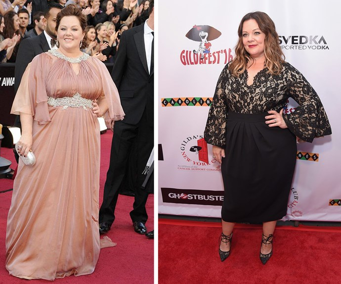 "Melissa McCarthy owned red carpets everywhere this year, looking beyond amazing as she showed off her [over 25kg](http://www.womansday.com.au/style-beauty/health-body/melissa-mccarthy-reveals-incredible-weight-loss-on-the-red-carpet-12703|target=""_blank""
