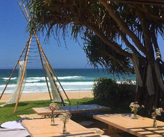 Is this where they wed? One of Margot's pals posted this pic of a stunning beach-side setting.