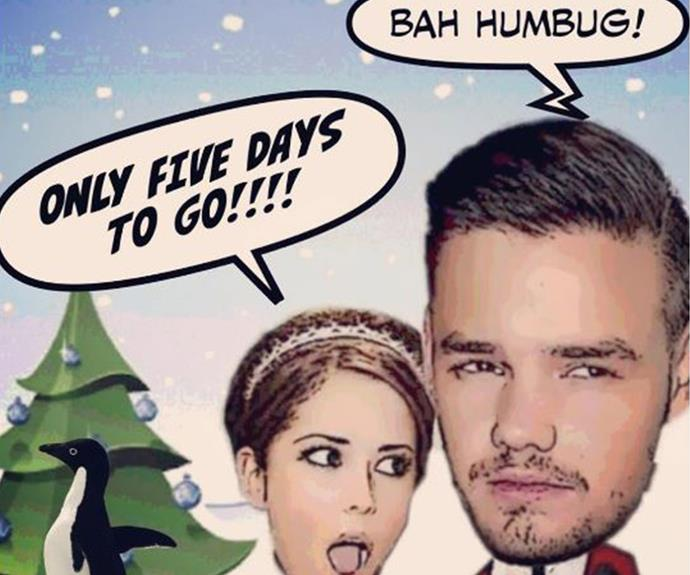 Parents-to-be Cheryl and Liam Payne clearly have very different views about the holiday season.