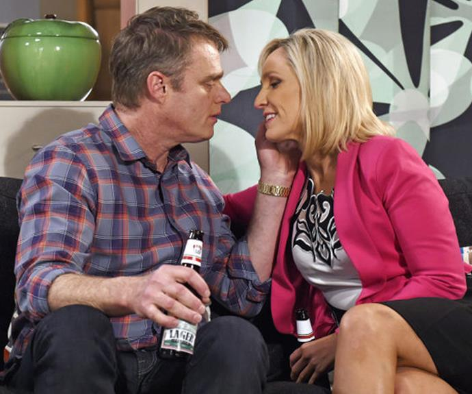 The couple met on the hit drama *Neighbours*.