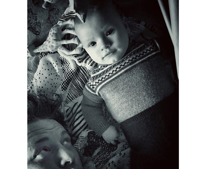 "Jamie Oliver can't get enough of his sweet son River Rocket - and we don't blame him! ""Chilling, just hanging out by the River,"" the celeb chef penned next to this heart-melting pic."