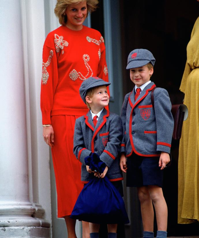 """Speaking of her sons, Princess Diana once said, """"I live for my sons. I would be lost without them."""""""