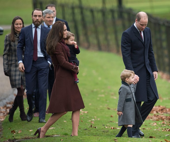 The Cambridge clan attended Christmas with the Middletons in 2016. *(Image: Getty Images)*