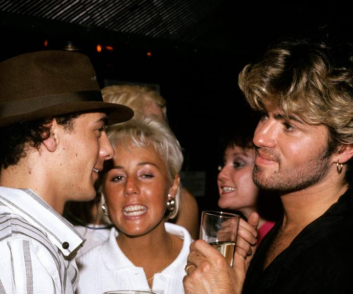 George with his WHAM! bandmates Andrew Ridgeley and Shirlie Holliman.