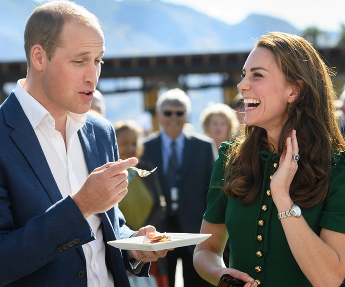 """**The magic continues...:** It may have been nearly seven years since they said """"I do!"""" but Wills and Kate seem to be a smitten as ever... All that's missing is a royal balcony and kiss to boot!"""