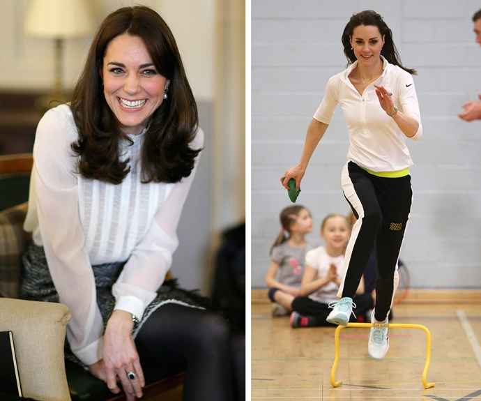 **Soaring to new heights:** One to take on life with both hands, the beloved royal wowed as she embarked on her own passionate quest in raising awareness for children's mental health. Kate not only put her best foot forward, showing off her sporting skills, she also dipped her toes into the world of journalism, stepping in as *The Huffington Post's* guest editor.