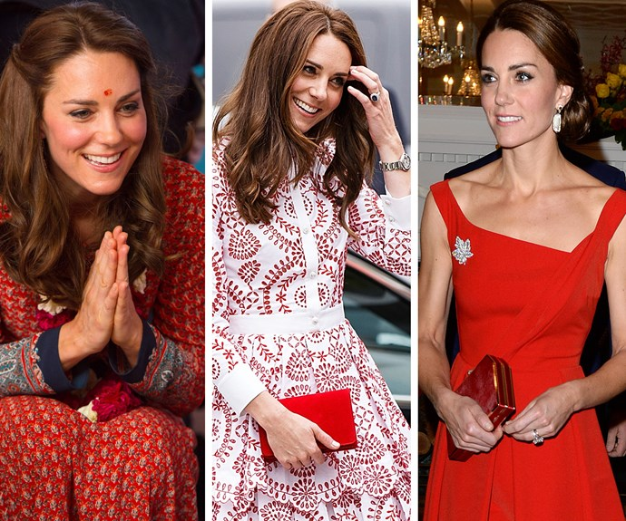 **Always radiant:** No matter what the occasion, Kate makes sure all her looks are an event! From channelling the cultural delights of India, embodying the fresh fun nature of Canada or going for ever-classic princess perfection.