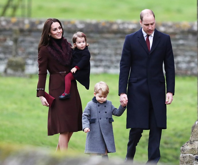 **A very Cambridge Christmas:** 2016 saw the Cambridges opt to spend the silly season with the Middleton family... and the family-of-four warmed our hearts when they stepped out for church in their winter ensembles.