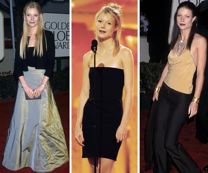 Ahh Gwynnie! From crushed velvet to flared jeans - the actress has rocked a lot of eye-catching looks at the Golden Globes.