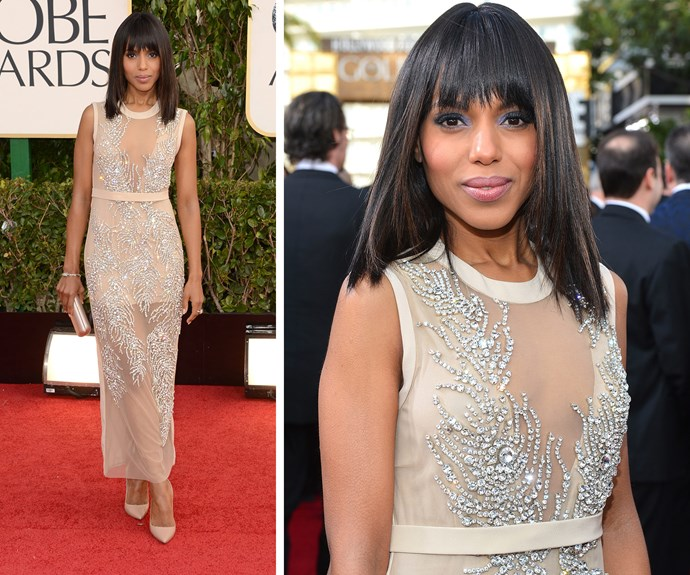 In 2013, Kerry Washington was one of the best dressed beauties in this nude Miu Miu ensemble.