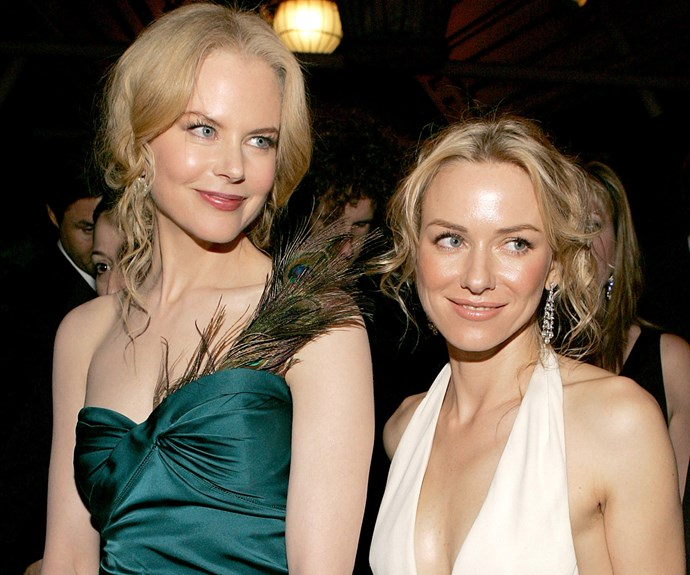 What's an award show without a little Nicole Kidman and Naomi Watts loving? The besties strike a pose at the 2005 after party.