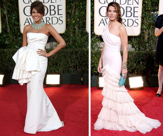 Eva Mendes and Sandra Bullock have us in a ruffle with these layered looks.