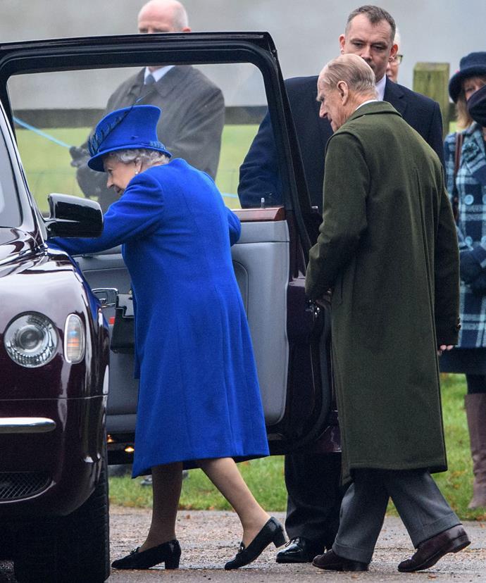 Looking very regal in royal blue.