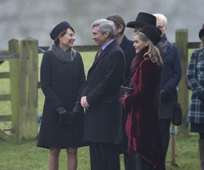 The Middletons also attended the church service.
