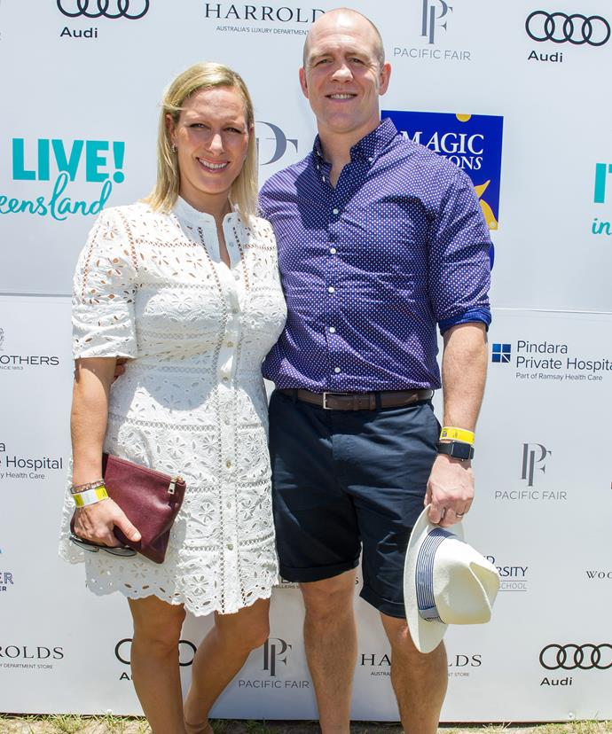 On Sunday, Zara and Mike attended the Magic Millions Polo on the Gold Coast